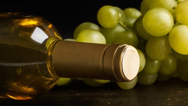 garrafa de vinho e cacho de uvas