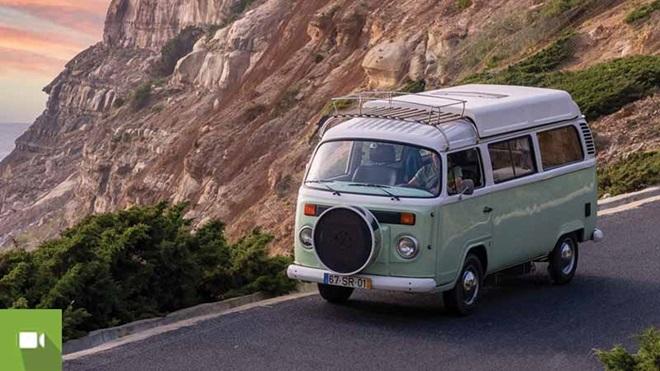 autocaravana siesta campers na praia da Calada, Ericeira