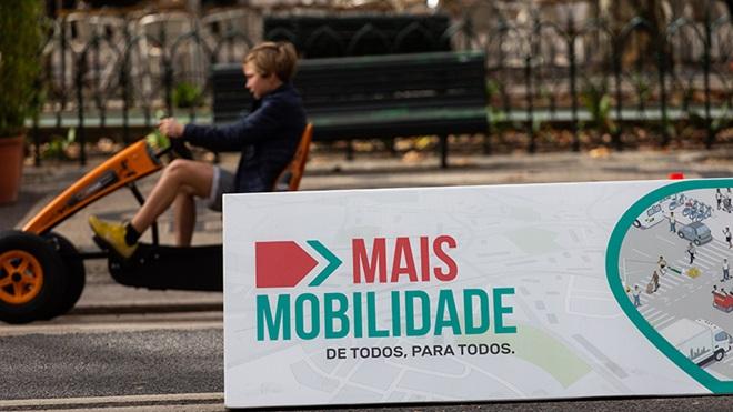 Pista de karts na Avenida da Liberdade em Lisboa.