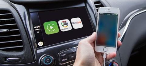 Android Auto, Apple CarPlay e MirrorLink são soluções que permitem o emparelhamento entre smartphones e sistemas de navegação e infoentrenimento do automóvel.