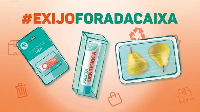 Campanha #exijo fora da caixa, sobre o excesso de embalamento