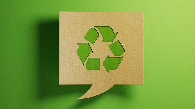 símbolo da reciclagem (três setas encadeadas num círculo)