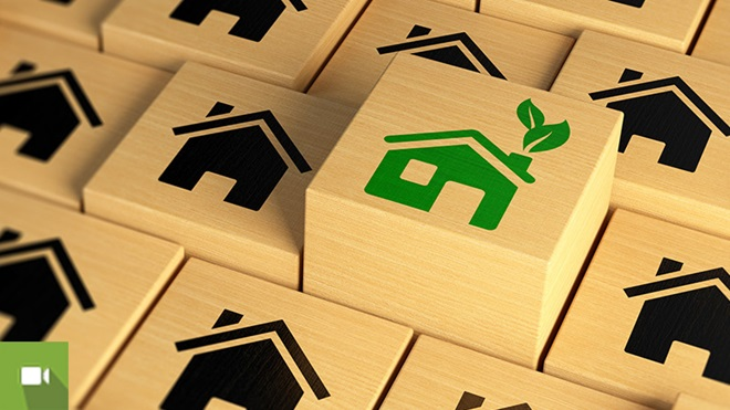 várias imagens de casas onde se destacam uma casa mais eficiente