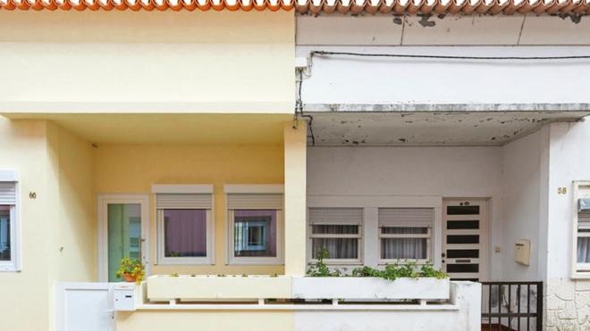 casa reabilitada segundo requisitos de casa passiva ao lado de casa velha