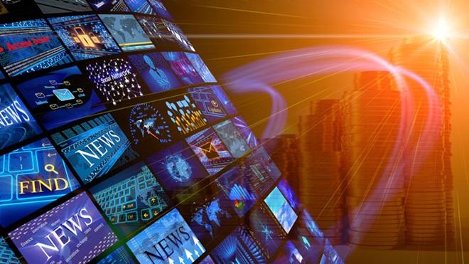 Vários ecrãs com imagens diferentes