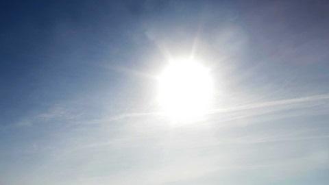 Fotografia do céu com o sol no centro.