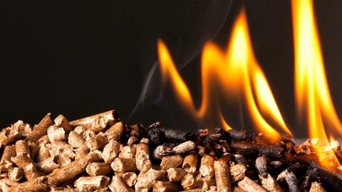 Pellets em chamas