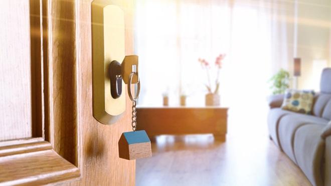 abrir a porta de casa