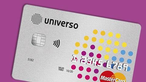 Imagem ilustrativa do cartão universo que pode ser utilizado nas lojas do grupo Sonae