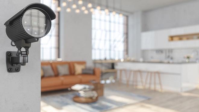 câmara de videovigilância em casa