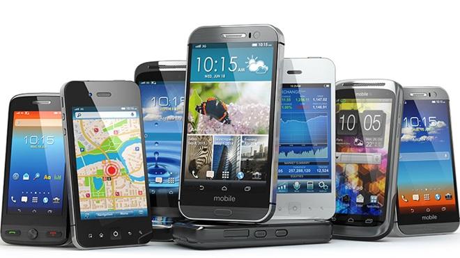 conjunto de telemóveis