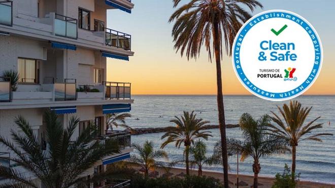 hotel à beira mar com selo clean and safe