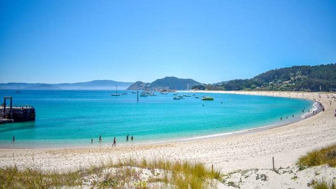 Praia de Rodas na Galiza