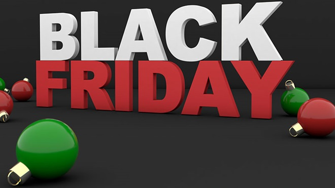 Black friday e bolas de Natal