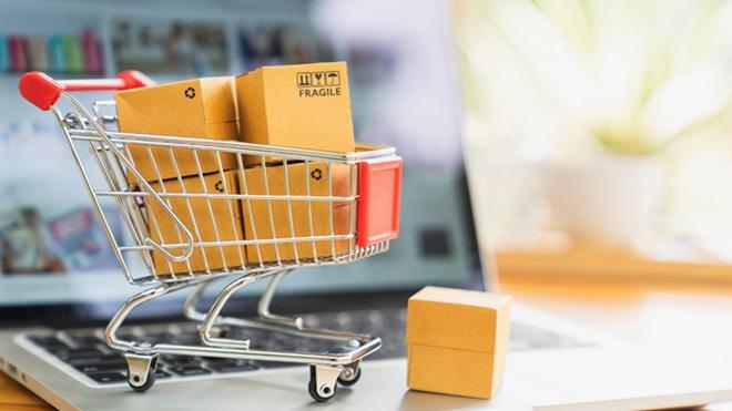 lojas online comprar nas melhores. imagem com carrinho de compras