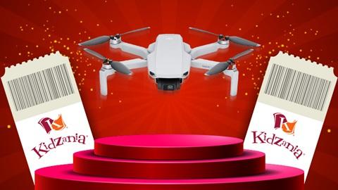 drone dji mavic mini e bilhetes kidzania