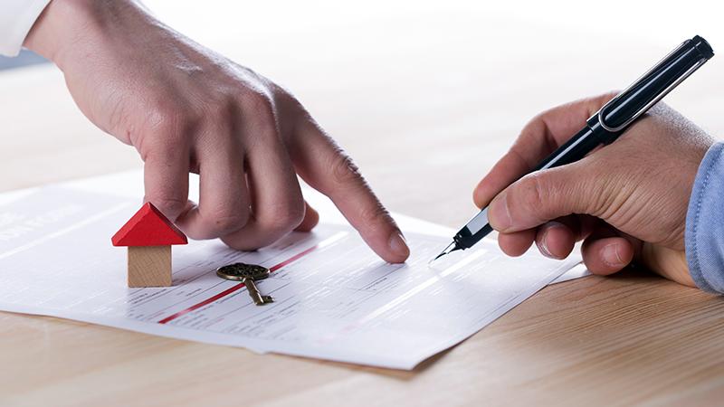 pessoa a apontar para contrato de arrendamento