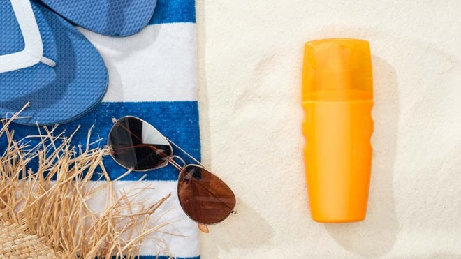 embalagem de protetor solar