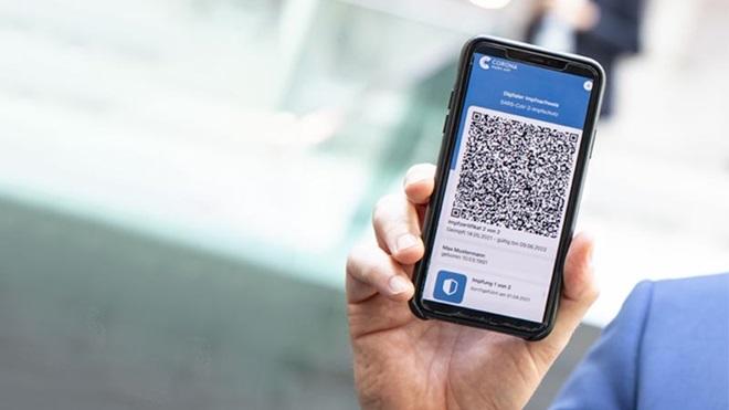 Certificado digital covid num smartphone
