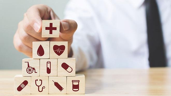 ilustração com cubos a simular plano de saúde Medicare