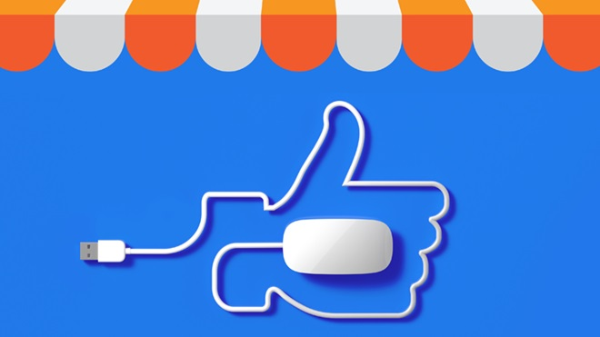 ilustração a simbolizar gosto no facebook