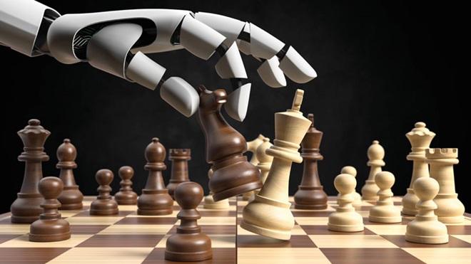 Robô a jogar xadrez