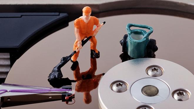 Conceito limpar disco do computador