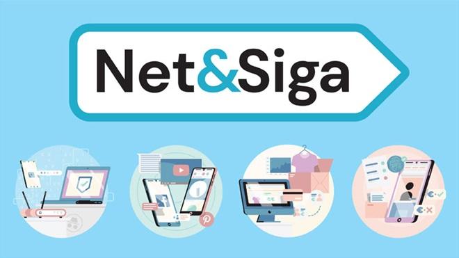 Logótipo do projeto Net & Siga