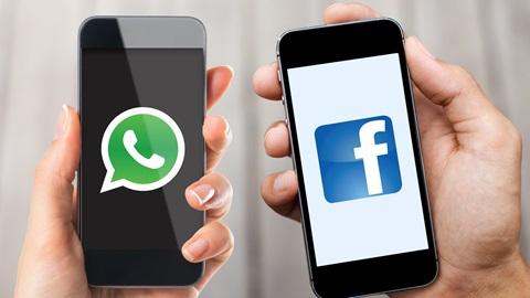 A app de comunicação WhatsApp foi comprada em 2014 pelo Facebook.
