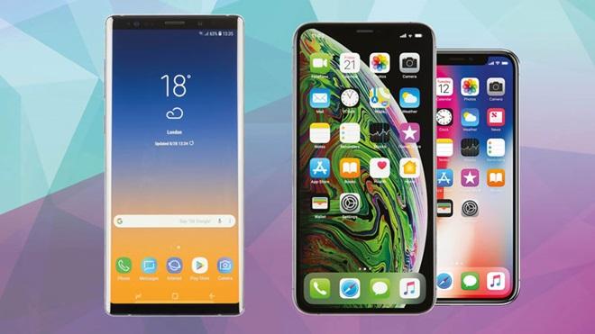 conjunto de smartphones