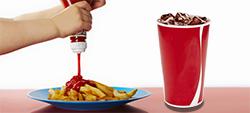 """Teor de açúcar """"escondido"""" em alimentos insuspeitos de ter um lado doce."""