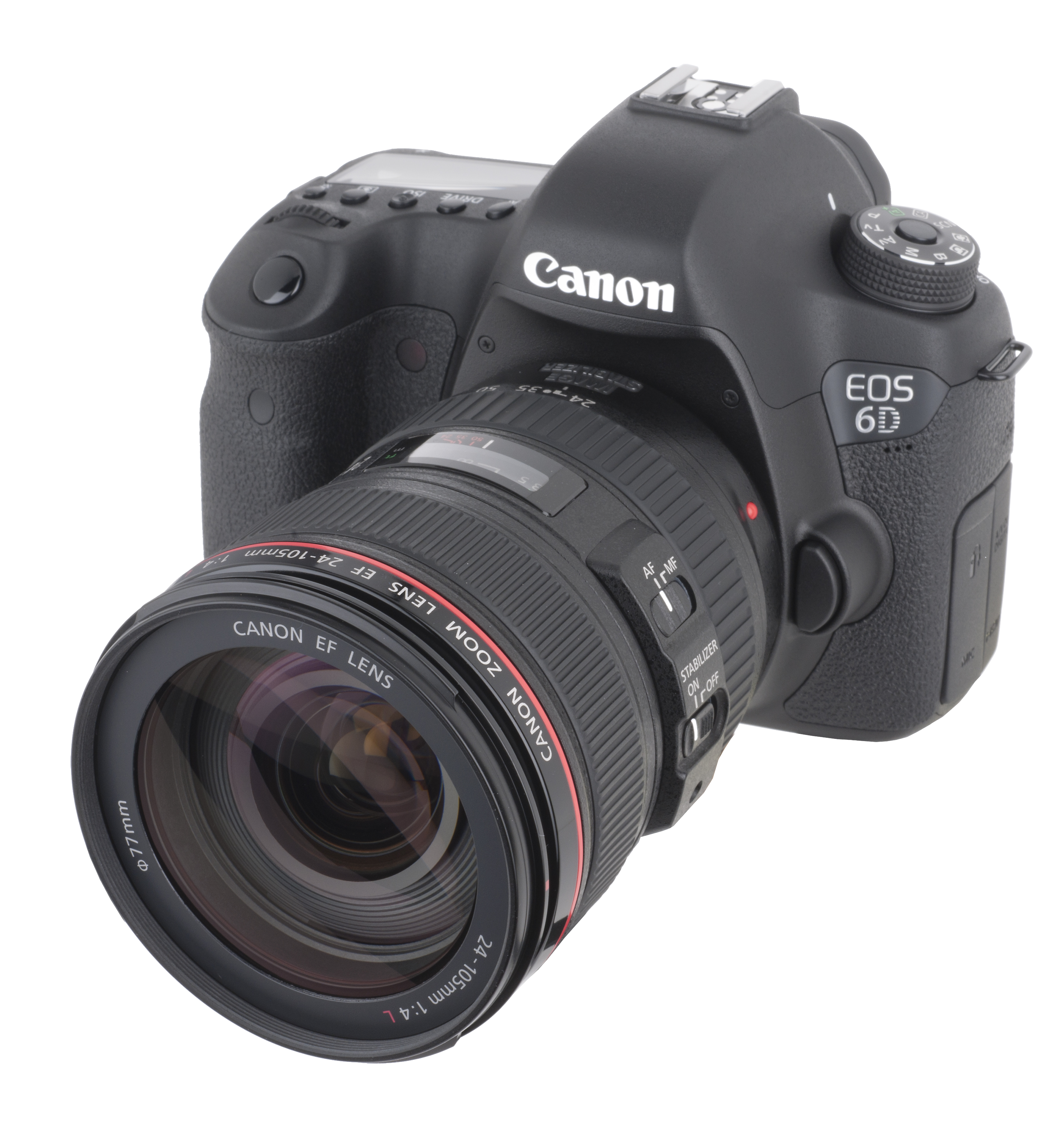 Canon EOS 6D com o zoom EF 24-105 mm f/4L IS USM.