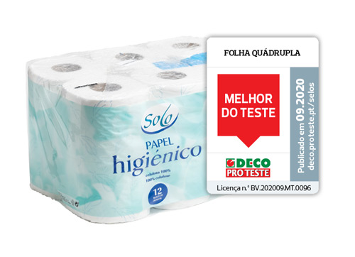 Solo Papel Higienico folha quadrupla