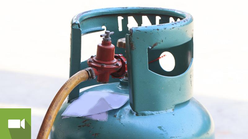 botija de gás