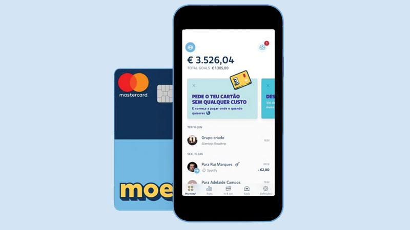 telemóvel com aplicação de pagamentos moey