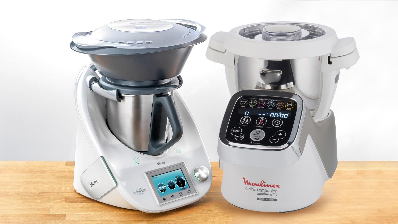 Moulinex i-companion ou Bimby TM5 com Cook key? Saiba qual destes robôs de cozinha proporciona maior interatividade.