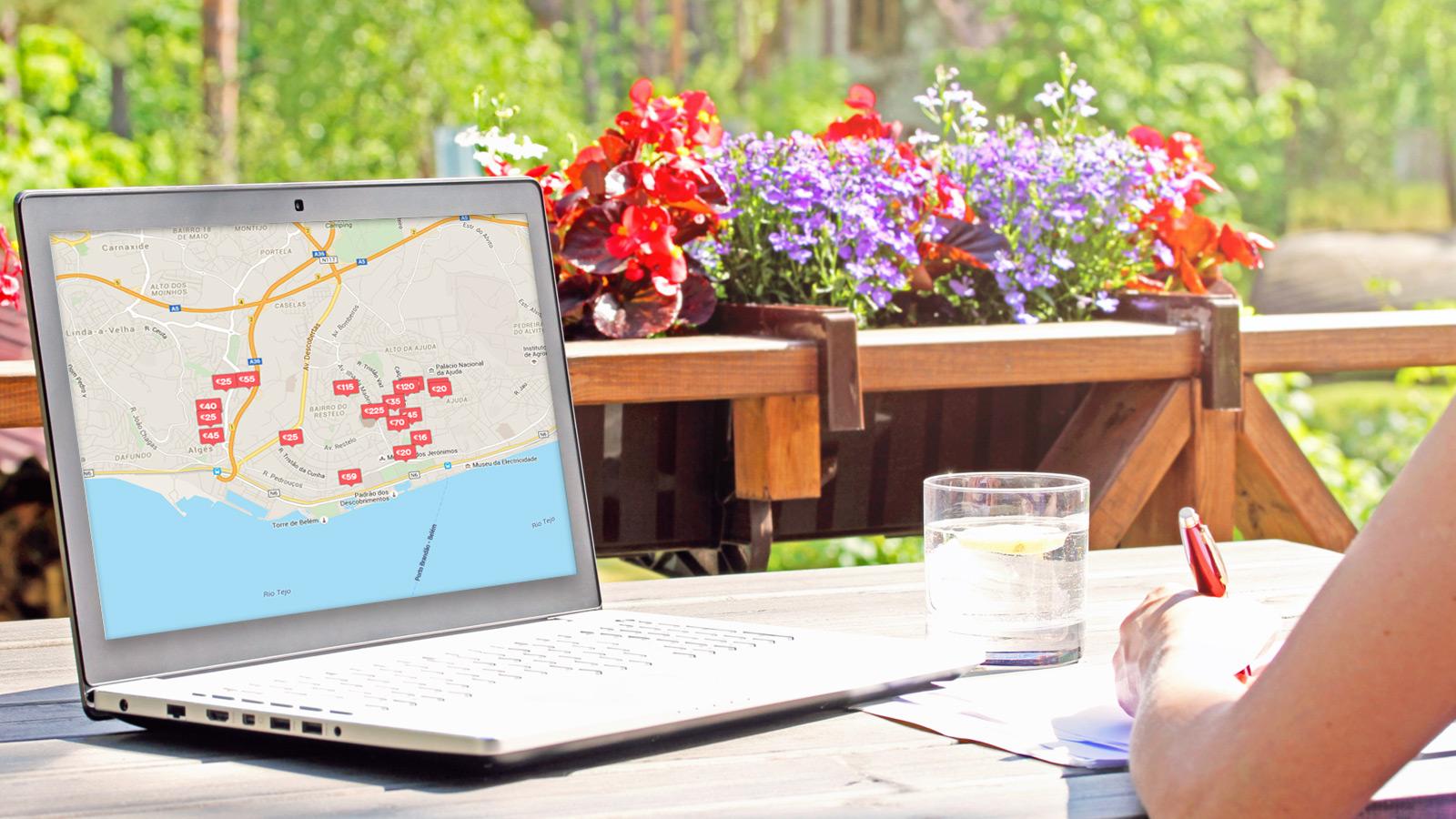 Avaliação a 8 plataformas on-line de arrendamento de casa para férias.