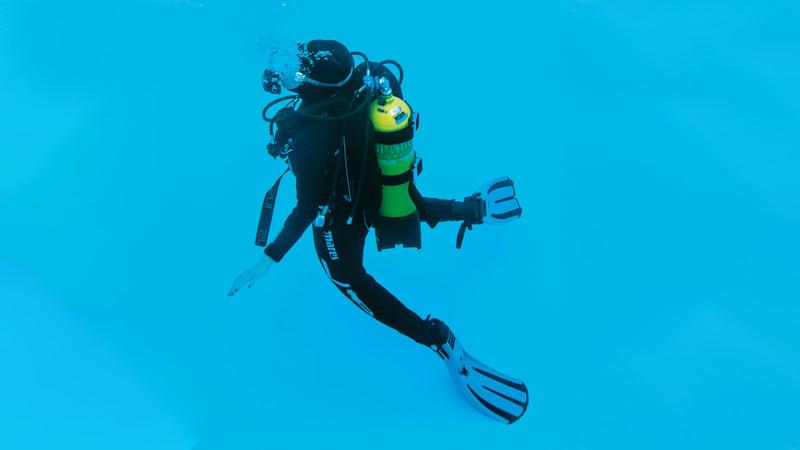 curso de mergulho provas piscina