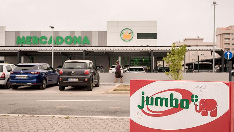supermercados Mercadona e Jumbo