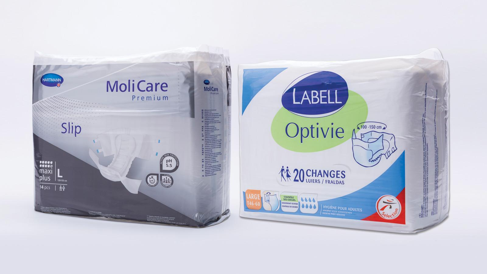 Fraldas MoliCare e Labell