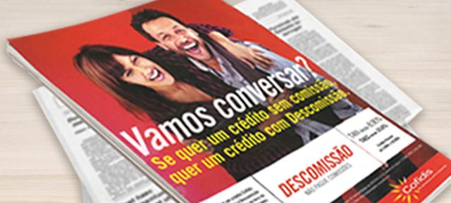 """A campanha """"Descomissão"""", da Cofidis, promete crédito pessoal sem comissões, mas esteja atento às condições..."""