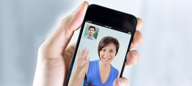 videochamadas com smartphone ou tablet